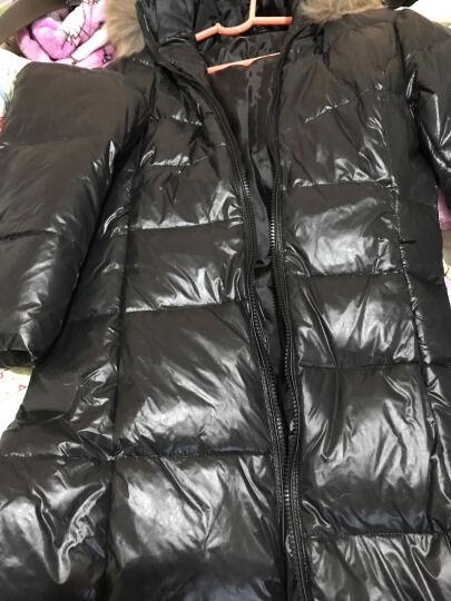 2017新款韩版真貉子毛领羽绒服女中长款加厚修身过膝长款带帽显瘦大码外套反季促销 黑色 XXXL 晒单图