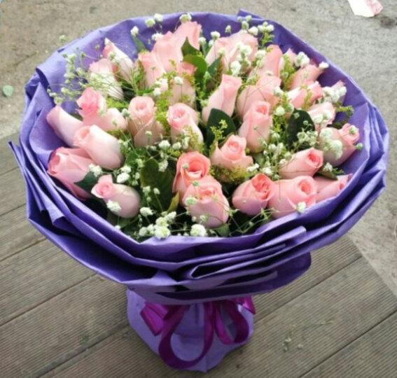 唯雅 鲜花速递33朵红玫瑰花束 同城送花全国花店送花上门当日速达 送女友老婆惊喜 唯爱1-33朵红玫瑰 晒单图