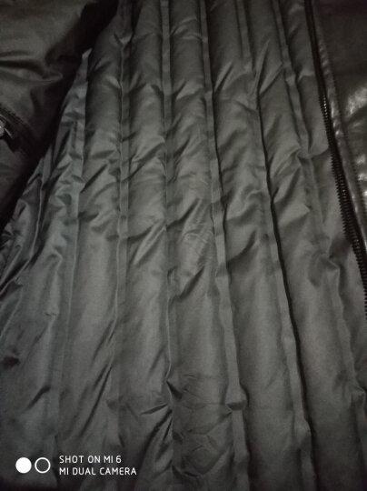 花花公子皮衣羽绒服男 内胆 加厚翻领外套 黑色 XXL/185 晒单图