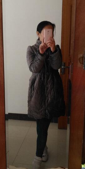 MRSOS  2016冬装新款韩版蝴蝶结金丝绒棉衣女装外套中长款斗篷棉服潮棉袄 灰色 M 晒单图