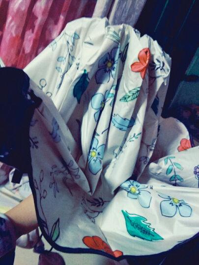 菲诺 (FEINUO)雨伞女太阳伞黑胶遮阳伞防晒防紫外线晴雨两用伞 碎花 折叠三折伞 牛津祖母绿 晒单图