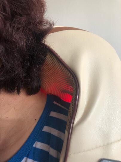 南极人(NANJIREN) 颈椎按摩器 肩颈车载按摩披肩 按摩枕垫颈部腰部背部按摩仪 金色4D揉捏版 晒单图