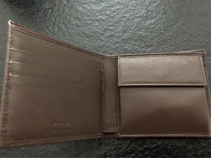 PRADA 普拉达 男士咖啡色牛皮短款对折钱夹 2MO738 PN9 F0201 晒单图