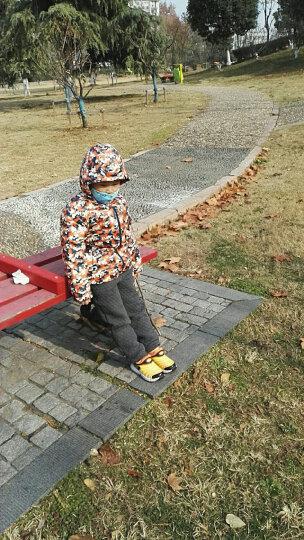 鸿星尔克(ERKE) 鸿星尔克儿童羽绒服大童童装男童羽绒服休闲保暖连帽迷彩外套上衣运动服 闪电蓝 150 晒单图