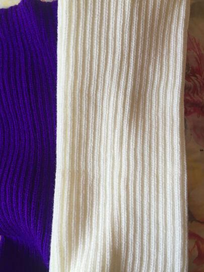 y秋冬假领子围脖男女通用毛线领圈针织围脖套中老年保温护颈假领子 亮紫色(开司米) 晒单图