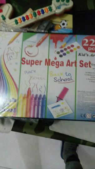 儿童画笔蜡笔绘画文具228件套画板礼盒木盒水彩笔学生用品彩绘蜡笔带画架套装 123件绿色木盒绘画套装 晒单图