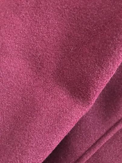 多俏雅毛呢大衣女中长款2018春秋装新款女装毛呢外套女 酒红色 M 晒单图