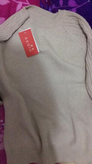 瑟秋2018春季套头毛衣女秋装新款韩版短款打底衫女装针织衫上衣 卡其色匀码 匀码 晒单图
