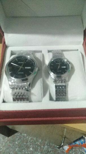 罗西尼(ROSSINI)手表 雅尊商务系列钢带双历石英情侣表女表5574W04D 晒单图