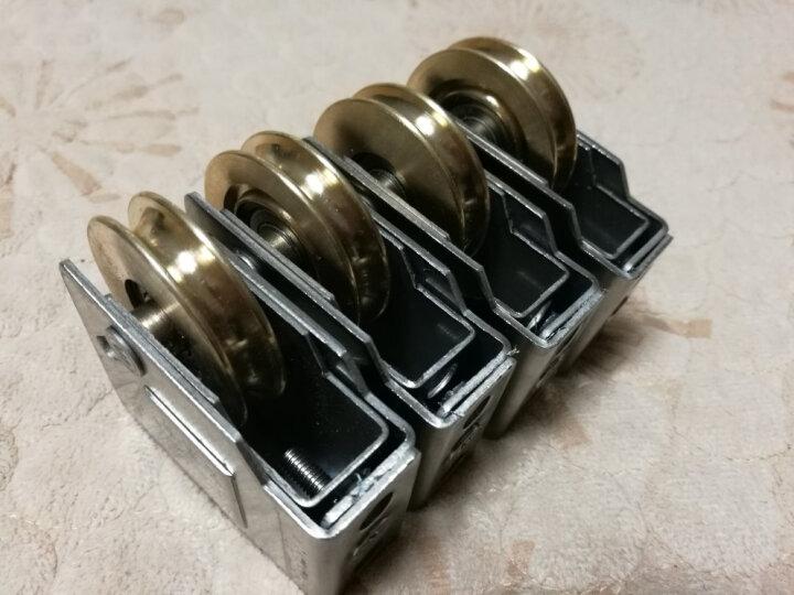 蒙莱奇老式90型门窗滑轮铜轮铝合金窗滚轮子 推拉窗户脚轮配件 晒单图