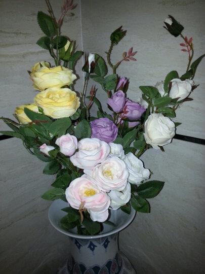 野派(yepai)仿真花束假花绢花 干花客厅装饰陶瓷花瓶花艺摆件 爱丽丝玫瑰单支/橘色 晒单图