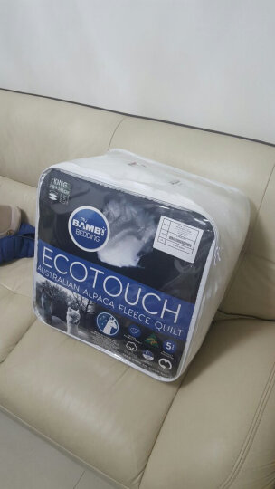 澳洲进口宜可柔(Eco Touch)羊驼绒被2m*2.3m 7斤秋冬被 保暖秋冬双人羊绒被子被芯 提花纹锦缎面 晒单图