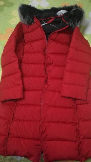 普卡图棉服女中长款2018冬季新款加厚保暖棉袄韩版修身显瘦大毛领羽绒棉衣大码过膝两面穿外套 红色 XL 晒单图