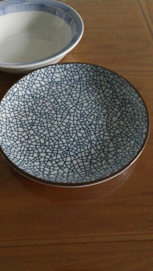 ART UNIVERSE 日式和风无铅陶瓷釉下彩餐具创意盘子圆盘平盘凉菜盘调味碟酱油碟 B款中盘(冰裂纹) 晒单图