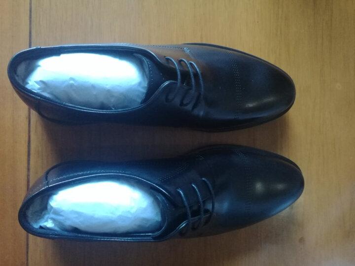 BELLE/百丽皮鞋男头层牛皮商务正装鞋25902AM7 棕色 42 晒单图
