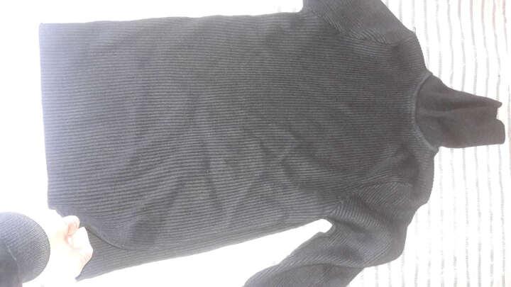 格领特针织衫男2017冬装新款男士纯色高领毛衣男韩版修身套头线衣长袖打底衫 黑色 XL 晒单图