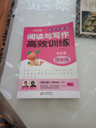 新课标 小学生语文阅读与写作高效训练 四年级(最新版) 晒单图