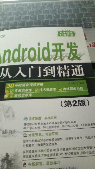 软件开发视频大讲堂:Android从入门到精通(附光盘1张) 晒单图