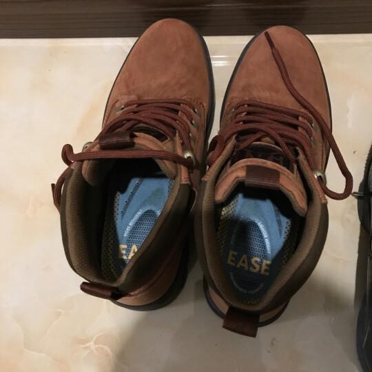 CAT卡特男鞋中帮牛皮革户外休闲鞋透气P720292G3KDR43 红棕色 43 晒单图
