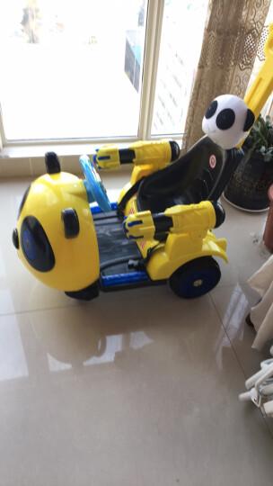 婴愛喜(Yingaixi) 儿童电动车四轮带遥控电动车双驱可坐宝宝摇摆车摩托车玩具童车 升级版绿箭侠+五点式皮座椅 晒单图