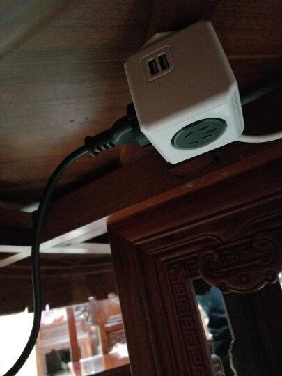 阿乐乐可allocacoc模方插座面板带usb插排创意桌面立式排插五孔转换器 带USB/1.5米延长线 灰 (五孔) 晒单图