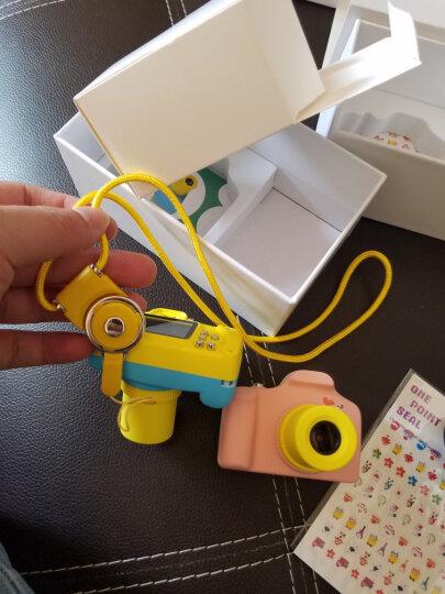 HEEI/小屁孩卡通数码照相机迷你可爱儿童相机玩具男孩女孩拍照录像小单反相机生日礼物创意礼品 可爱粉/送挂绳 贴纸 读卡器(32G TF卡) 晒单图