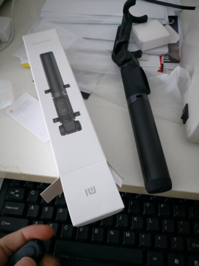 小米支架式自拍杆 灰色  蓝牙遥控迷你便携带三脚架多功能 晒单图