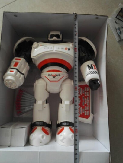 遥控机器人 智能玩具可编程智能手势感应发射飞弹唱歌跳舞电动遥控机器人儿童玩具 【娱乐教学一体智能感应】存钱罐机器人白色 晒单图