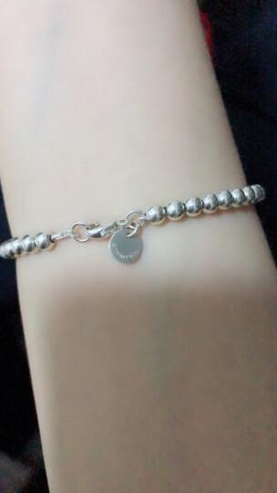 Tiffany & Co蒂凡尼蒂芙尼粉色爱心珐琅配圆珠手链 16.5cm 晒单图