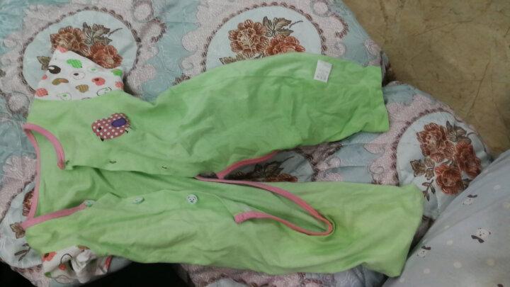 卡通短袖长裤开裆空调衣夏季婴儿连体衣宝宝爬服哈衣夏天衣服 蓝色小猫短袖 80码(建议身高73-80cm左右) 晒单图