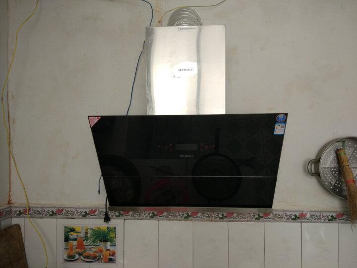 森太(SETIR) B988Q油烟机侧吸式 单电机自动清洗侧吸油烟机吸力大 银黑面板+自动热干洗 晒单图