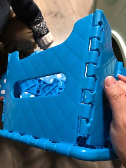 贝瑟斯 加厚塑料凳子折叠凳家用浴室矮凳板凳户外休闲椅子野餐凳钓鱼凳 大小号各2个 晒单图
