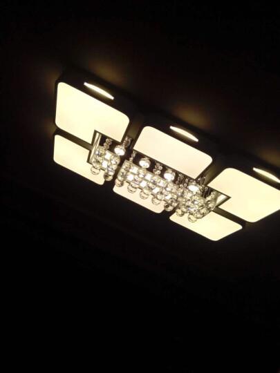 朗士(ROSY) led吸顶灯客厅灯长方形现代简约创意水晶灯具套餐卧室灯饰 上门安装费(全部型号) 白光 晒单图