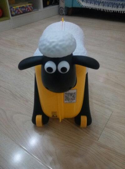 Familyout凡米粒 儿童行李箱 小羊肖恩骑行旅行箱 玩具登机箱 黄色 晒单图