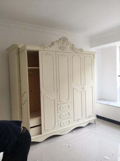 尊范 欧式衣柜 五门大衣柜 法式对开门衣柜 卧室家具 简易整体储物衣橱 法式雕花五门衣柜 晒单图