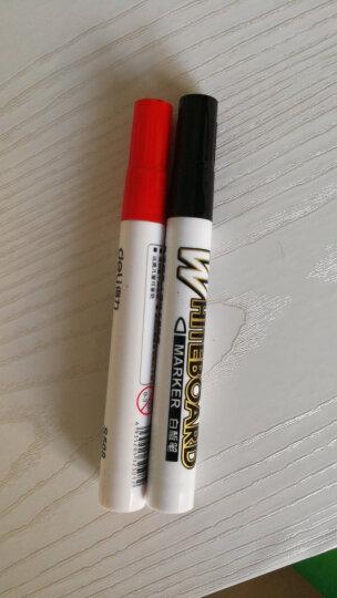 得力(deli)办公会议可擦易擦白板笔 4支组合装(2黑+1红+1蓝)33104 晒单图