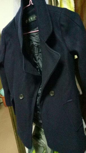 美梵林短款女士短外套呢子外套女中长款矮个子长袖毛呢大衣气质2017新款秋冬女装保暖斗篷厚 米色加棉 S 晒单图