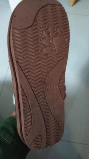 快鹿冬季新款棉拖鞋男女室内地板情侣厚底保暖家居棉拖鞋 9104 紫色小格子 250适合36/37码 晒单图