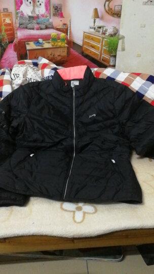贵人鸟羽绒服女装外套新款休闲运动服保暖修身 -5黑色 XL 晒单图