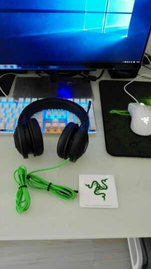 雷蛇(Razer)雷蛇北海巨妖头戴式7.1环绕立体声带麦克风游戏耳机 吃鸡游戏耳麦 专业版V2绿色(3.5mm接头 7.1虚拟环绕声) 晒单图