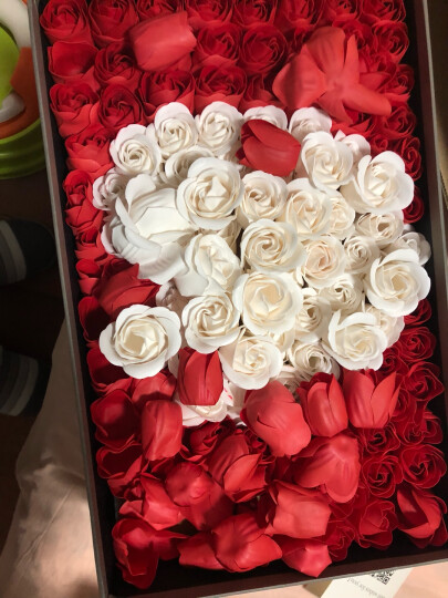 I'M HUA HUA118朵爱心红色香皂花玫瑰花礼盒鲜花速递同城情人节圣诞节纪念日鲜花礼物花束礼物送女生送女友 晒单图