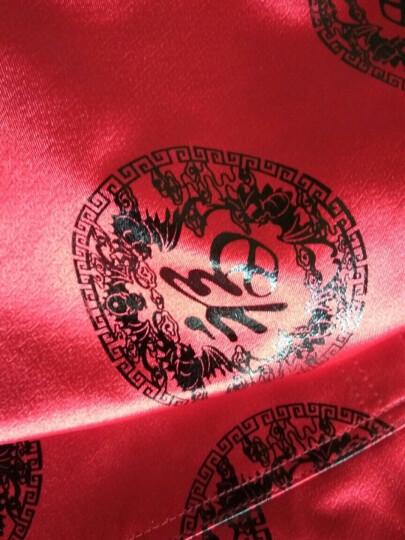 中老年情侣装拜寿生日唐装男女长袖夹克中国风爸爸妈妈爷爷奶奶婚礼宴会礼服 红色(龙凤呈祥) (女)-L 晒单图