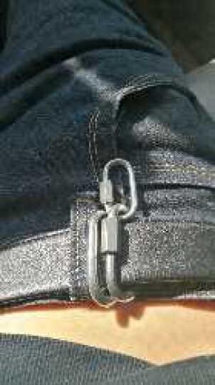 304不锈钢户外葫芦形钢扣承重连接环挂勾安全扣登山扣挂扣安全扣连接环梅陇锁钥匙扣多功能快挂 连接环-M5 晒单图
