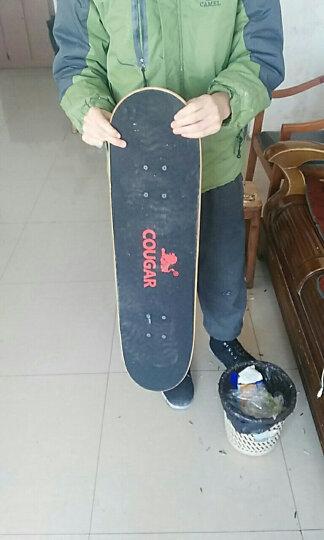 美洲狮(COUGAR) 美洲狮滑板专业双翘四轮滑板成人儿童刷街代步公路板 蓝色女神+扳手+爆闪灯 晒单图