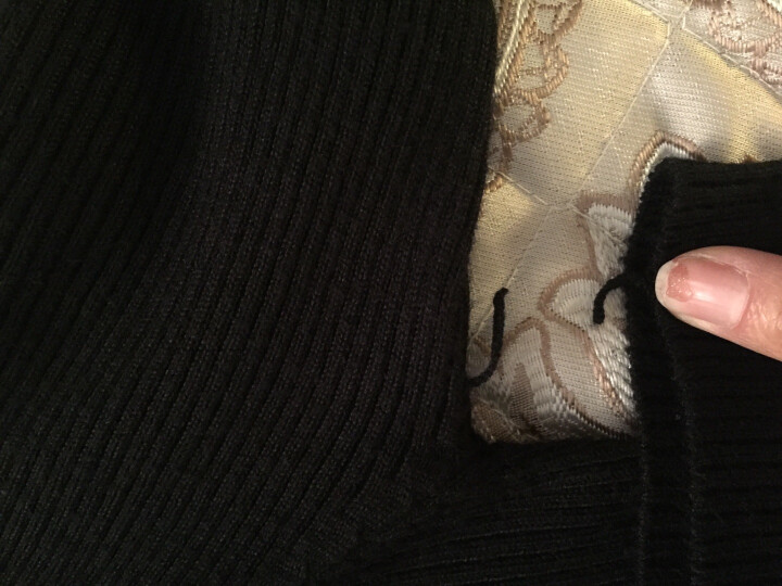 鸿彩鸟 2017新款秋冬季高领毛衣女款针织衫打底衫套头中长款外套上衣服韩版修身显瘦冬装女士 橘色 M 晒单图