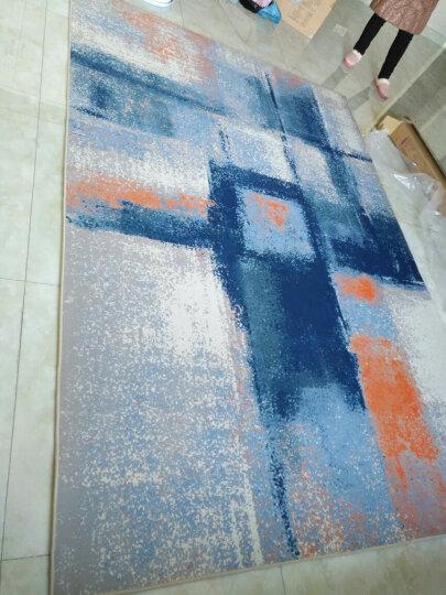 津益郎现代简约艺术抽象水墨客厅地毯茶几卧室满铺地毯亚麻北欧式长方形 170713A 80*126厘米床边地毯 晒单图