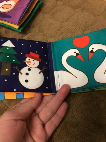 LALABABY/拉拉布书 1-3岁婴儿早教布卡 识字卡片 认知卡 双面26张 动物认知 晒单图