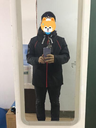 七匹狼羽绒服外套 男士户外防寒连帽多袋保暖滑雪服 001(黑色) 185/104A/XXL 晒单图