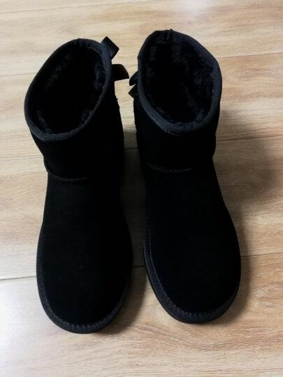 Teenmix/天美意冬牛剖层皮雪地靴女休闲靴(仿毛里)58502DD7 黑色仿毛里 38 晒单图