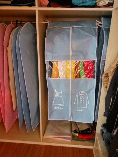 【买2套送1个】他他库 5个装衣服防尘罩 收纳整理透明防尘 粉色 5个大号 晒单图